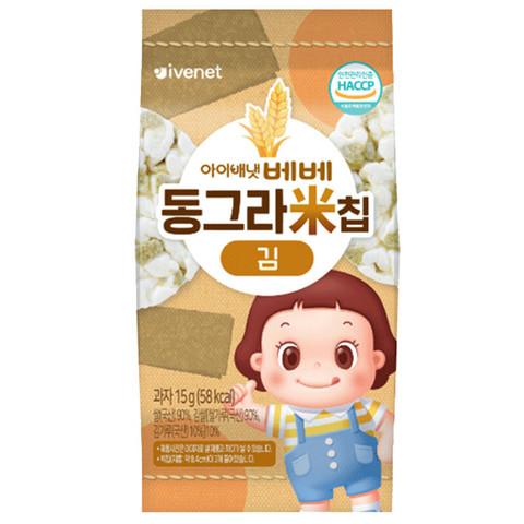 艾唯倪(ivenet)  大圆米饼干  磨牙棒儿童宝宝零食 海苔味15g