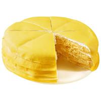 PLUS会员:xianbaike 鲜佰客 金枕榴莲千层蛋糕 6寸 400g