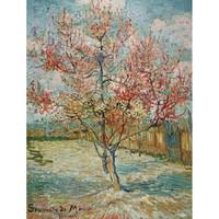 梵高名作复刻版画-盛开的桃花 57x70cm