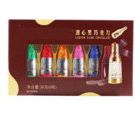 laochui 老炊 酒心黑巧克力 38g 6枚 礼盒装