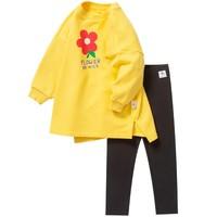 Mini Balabala 迷你巴拉巴拉 女童长袖卫衣长裤2件套