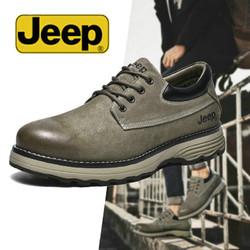 Jeep吉普休闲鞋男时尚百搭大头皮鞋潮流户外工装鞋踢不烂休闲皮鞋