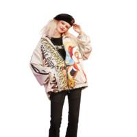 elf sack 妖精的口袋 大闹天宫联名系列 女士缎面短外套 1110_AL4017