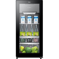 海尔(Haier)121升冷柜 立式家用办公室母婴冰吧茶叶红酒展示柜 商务迷你可制冰LC-121D线下同款