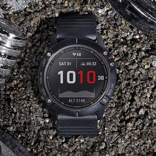GARMIN 佳明 Fenix6 Pro 智能手表 51mm 黑色玻璃镜面 黑色硅胶表带(GPS、血氧)