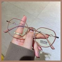 防蓝光眼镜女时尚素颜神器护目眼睛近视网红学生韩版有度数变色镜