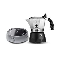 Bialetti 比乐蒂 双阀高压咖啡壶 2杯份+电陶炉 灰色