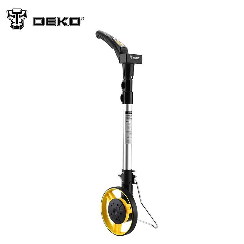 DEKO 数显测距轮手持滚轮式测距仪计数器测亩仪计步计米器土地面积测量尺量亩尺丈量仪 电子数显测距轮(直径159mm)