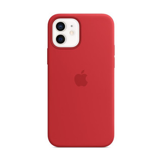 Apple iPhone 12 12 Pro 专用原装Magsafe硅胶苹果手机壳 保护壳 - 红色