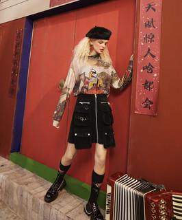 elf sack 妖精的口袋 1110_AL7004 女士半高领打底衫