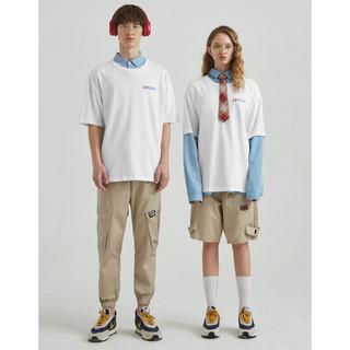 A21 R402131048 男装圆领落肩短袖T恤