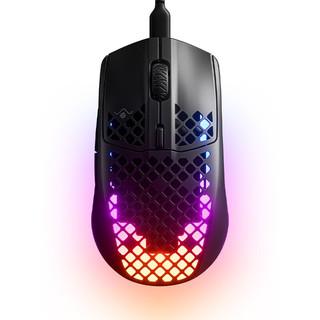 steelseries 赛睿 Aerox 3 有线鼠标 8500DPI RGB 黑色