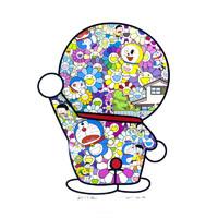 艺术品:墨斗鱼 村上隆《Doraemon are in the field of flowers》1000版 65.5x57.39cm 装饰画 版画