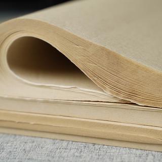 一得阁 宣纸仿古色四尺四开半生半熟宣纸毛笔书法国画专用纸 仿古色半熟宣100张