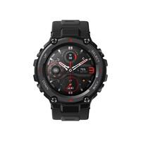 AMAZFIT 华米 T-Rex Pro 智能手表 47.7mm 黑色 陨石黑硅胶表带 (北斗、GPS、NFC、血氧)
