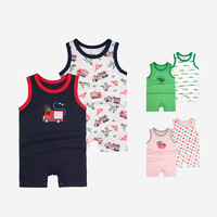 Minizone 婴儿无袖背心连身衣 2件装