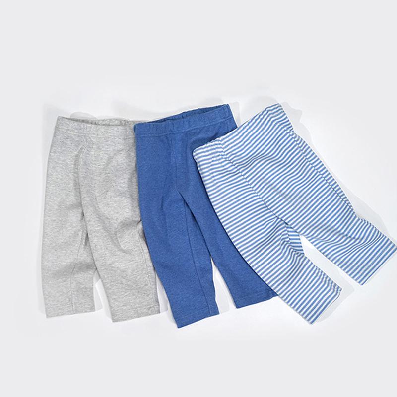 3条装|minizone春秋季款男女宝宝婴儿小童新生儿纯棉打底裤长裤0-3岁