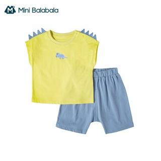 Mini Balabala 迷你巴拉巴拉 儿童短袖PP短裤套装