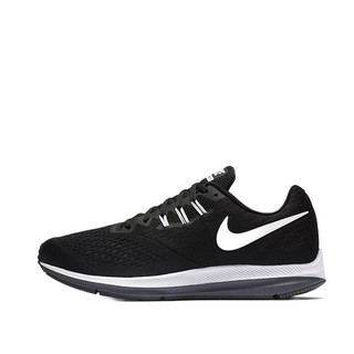 NIKE 耐克 Zoom Winflo 4 男子跑鞋 898466-001 黑白 40.5