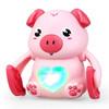 点盛 抖音同款儿童玩具声控翻滚小猪会走路会唱歌翻斗猴男孩女孩宝宝爬行电动玩具礼物 小红猪