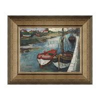 雅昌 潘玉良《船》装饰画  33×26cm 装饰画 油画布