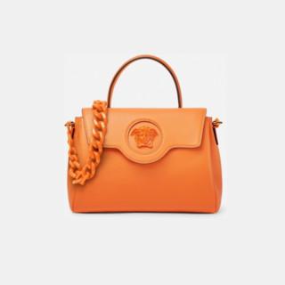 VERSACE 范思哲 La Medusa系列 女士牛皮革手提包 DBFI039-DVIT2T 橙色 中号