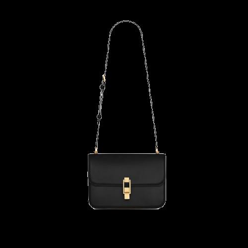 SAINT LAURENT 圣罗兰 LE CARRE系列 女士皮革单肩包 6332141YF0W1000 黑色 中号