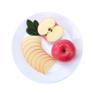 果然馋 山东烟台栖霞红富士苹果水果礼盒整箱新鲜当季 带箱约10斤中大果 75-80mm