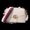 GUCCI 古驰 GG Marmont系列 女士皮革手提斜挎包 498100 DTDPT 8283 白色 小号