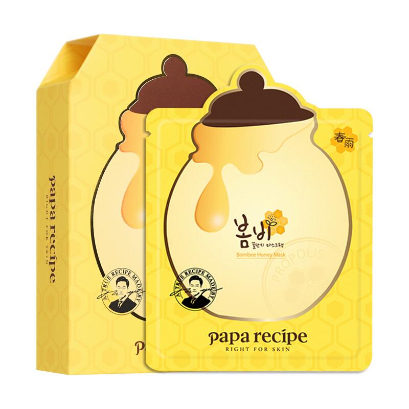 Papa recipe 春雨 papa recipe 黄色蜂蜜面膜10片/盒 蜂蜜养肤 补水保湿(韩国进口 男女敏感肌适用 )