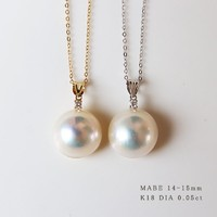 PearlYuumi 優美珍珠 马贝珍珠钻石吊坠 0.05ct