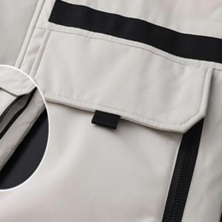 Fuguiniao 富贵鸟 男女款短款羽绒服 FGNB202-2058 米色 L