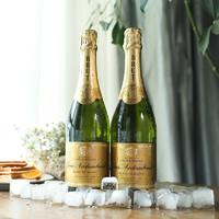 PLUS会员:菲特瓦 勃艮第白中白起泡葡萄酒 750ml 双支装 +送2杯+送礼袋
