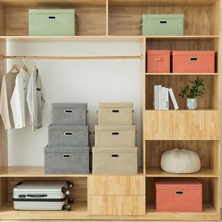 衣服收纳箱布艺整理箱可折叠床上收纳盒宿舍学生储物箱子收纳神器