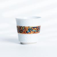 xigu 熹谷 白瓷珐琅彩锤纹陶瓷主人杯