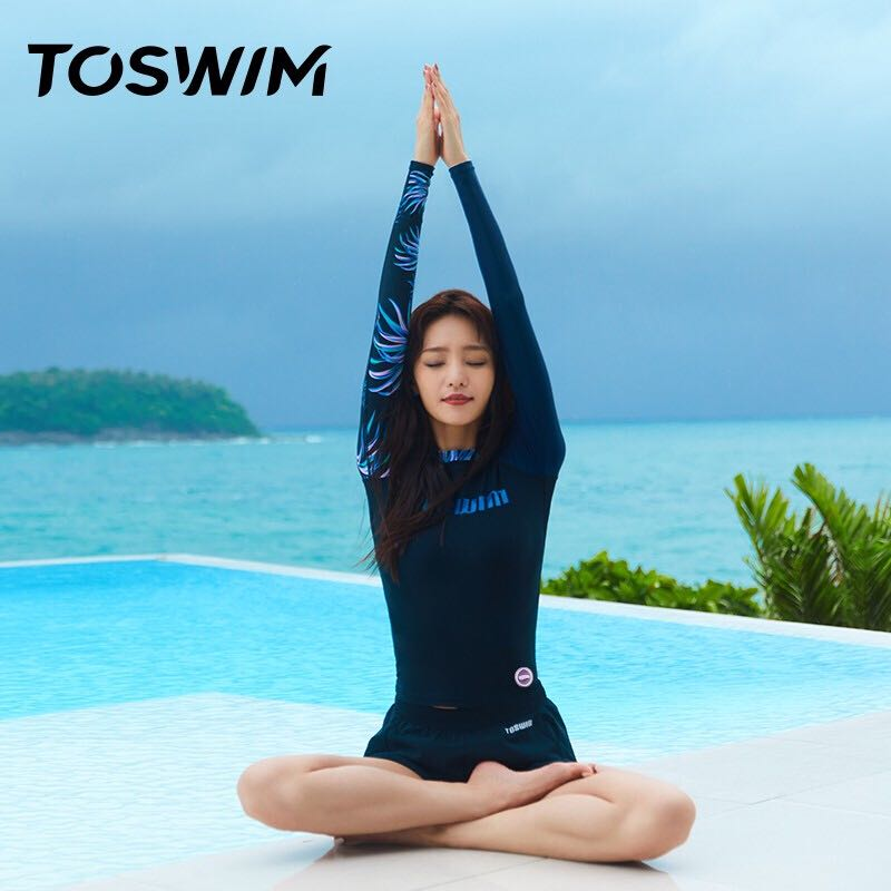 TOSWIM 拓胜 TS811206980 女款长袖分体泳衣
