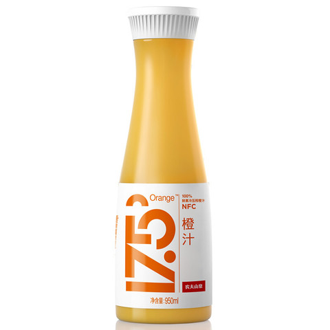 NONGFU SPRING 农夫山泉 农夫山泉17.5°NFC鲜橙汁  100%果汁 950ml/瓶