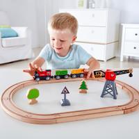Hape 儿童拼插拼搭轨道车积木益智玩具