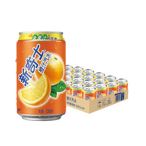 Watsons 屈臣氏 Watsons 屈臣氏  新奇士橙汁汽水  330ml*24罐