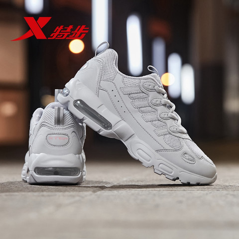 XTEP 特步 特步女鞋运动鞋女秋季新款休闲鞋网面透气老爹鞋潮气垫鞋