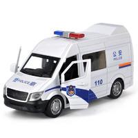 凌速  合金模型小汽车 大号警察车