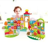 Hape 积木玩具 80粒 E8312 宝宝花园积木