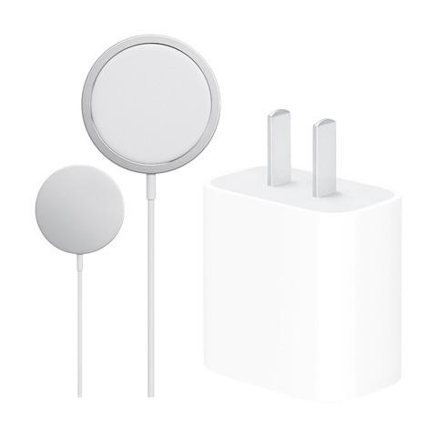 聚划算百亿补贴:Apple 苹果 PD快充头 20W电源充电器USB-C+磁吸无线充 iPhone手机套装