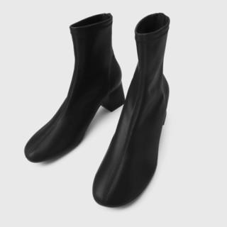CHARLES & KEITH 女士中跟短靴 CK1-91680120