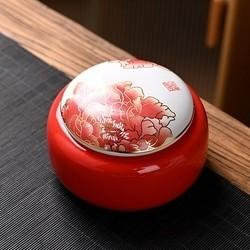澜扬 粗陶茶叶罐 茶盒