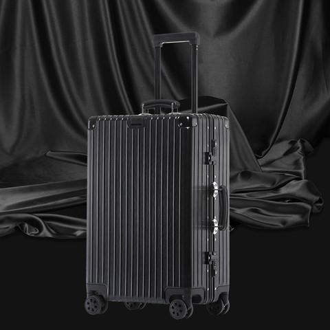 DEECOO 行李箱铝框拉杆箱万向轮旅行箱24寸男女箱子密码箱登机箱20寸