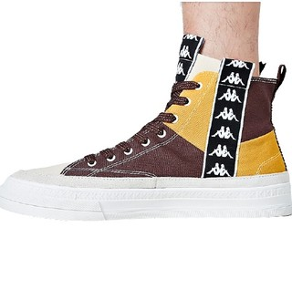 Kappa 卡帕 中性运动帆布鞋 K0A55CC47-641 深桃木色/咖啡棕/韩国白 42