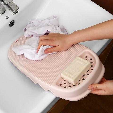 木丁丁 搓衣板免手洗懒人洗袜子神器宿舍家用水槽洗衣板塑料小跪用送男友