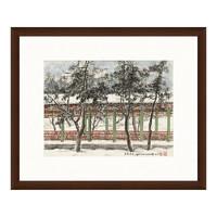 雅昌 关山月《长廊积雪》54×65cm 水墨画 宣纸