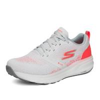 斯凯奇女士编织网布运动鞋轻质高回弹缓震稳定型跑鞋秋 35 浅灰色/粉红色